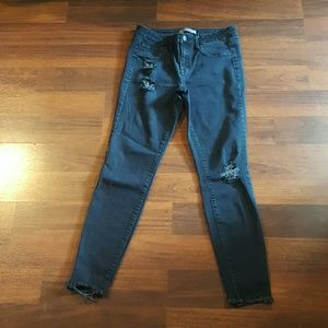 Charlotte Russe black high rise jeans